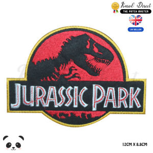 Jurassic-Park-Movie-Video-Game-Embroidered-Iron-On-Sew-On-Patch-Badge