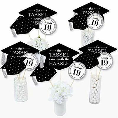 Graduation Congratulations Graduation Sign High Resolution Tassel Was Worth The Hassle Black and Gold Graduation Celebration Sign