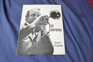 RARE-Vintage-jazz-Band-original-1974-UK-concert-tour-program-SYD-LAWRENCE
