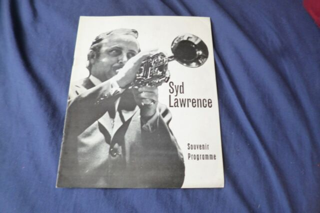 RARE Vintage jazz Band original 1974 UK concert tour program SYD LAWRENCE