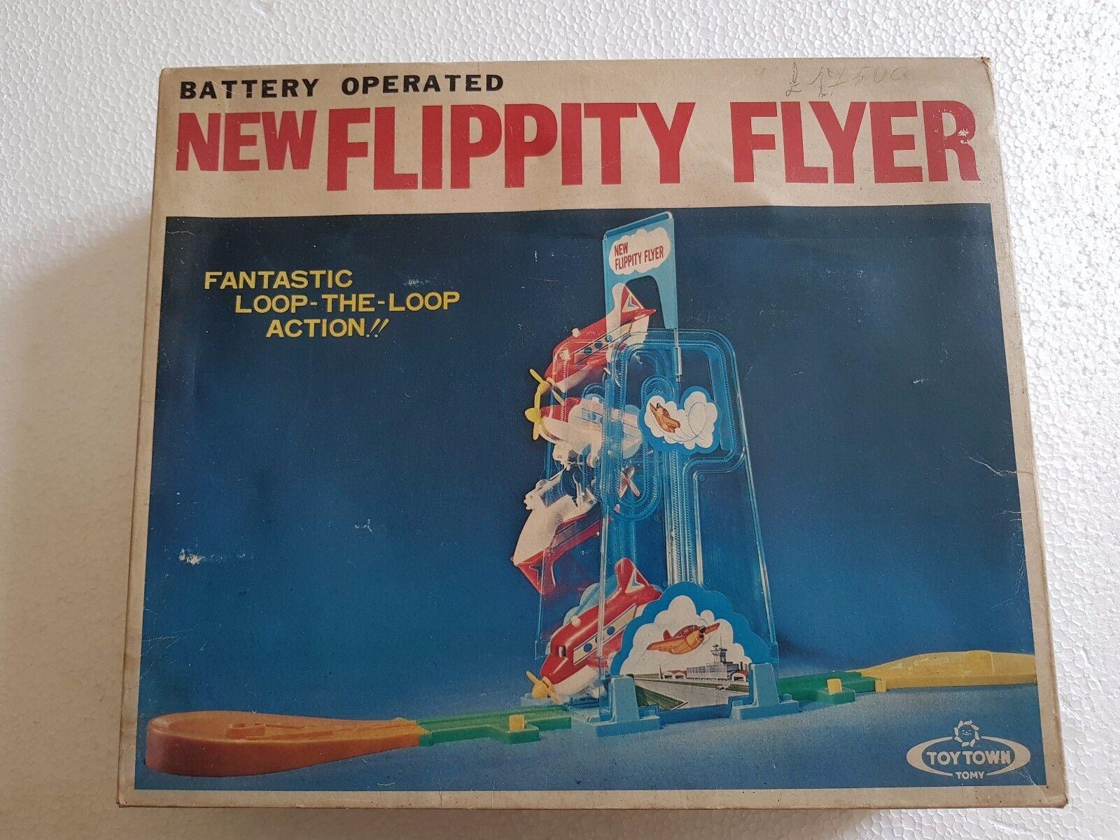 TOYS NEW FLIPPITY FLIYER BATTERY OPERATED - TOMY - VINTAGE