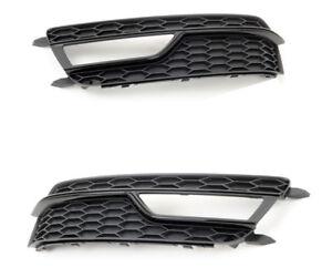 Genuine-Audi-A5-S5-12-16-S-LINE-Delantero-Parachoques-Parrilla-De-Luz-De-Niebla-Par-Izquierda