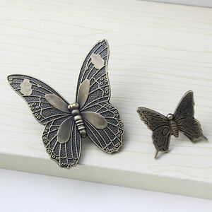NEW Antique Butterfly Cupboard Cabinet Door Knobs Drawer Furniture Pull Handles
