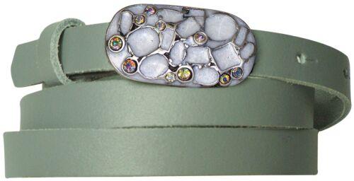 FRONHOFER schmaler Gürtel 1,5 cm Schmuckgürtelschnalle auch Lackledergürtel