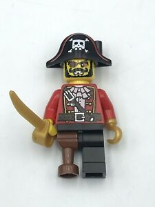 LEGO Minifigure Series 8 Pirate Captain Carribean Collectible Missing Feather