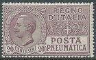 1925 REGNO POSTA PNEUMATICA 20 CENT MNH ** - E82