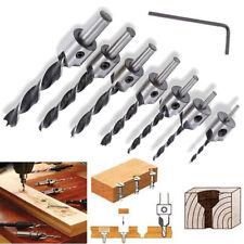 7 pcs Drill Bit Wood 5 Flute HSS Countersink Set 3 NEW2 Carpentry 7 5 6 L3I5