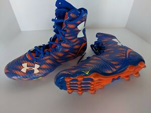 39a1bd74cd8e Under Armour UA Highlight MC Football Cleats Blue/Orange Size 10.5 ...