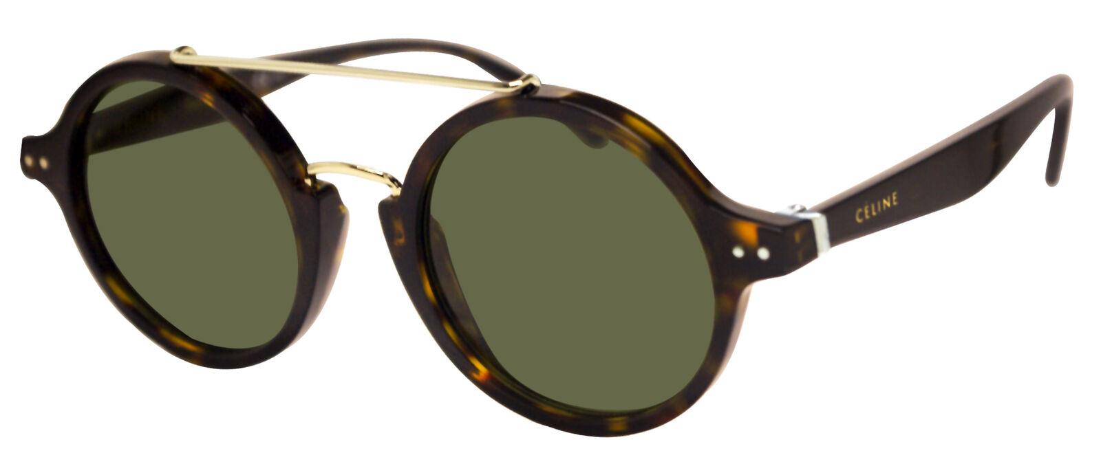 feac6b473ed1 Celine 41436 0861e Dark Havana Green Authentic Sunglasses for sale ...