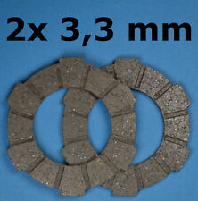 Hercules Prima 2,3,4,5,6 Kupplung Lamelle SACHS 504,505 2x3,3mm Kupplungsbeläge