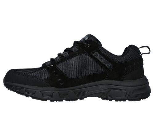 SKECHERS OAK CANYON 51893 BBK scarpe uomo sportive sneakers camoscio memory