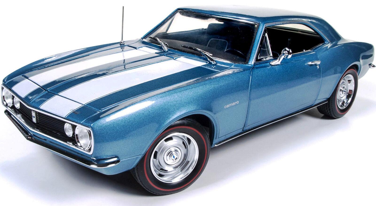 1967 chevrolet camaro blaue 1,18 autoworld 1101