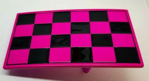 Checkered Belt Buckle Mens Womens