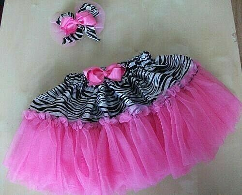 4 YEARS OLD VARIOUS COLOURS BABY GIRL 2 PIECE TUTU SKIRT//HAIR SLIDE SIZE 6MTHS
