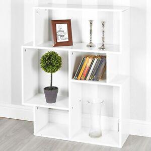5 Cubes Blanc Petit Moderne Cote Unite Bibliotheque Bois Rangement Meuble Chambre Ebay