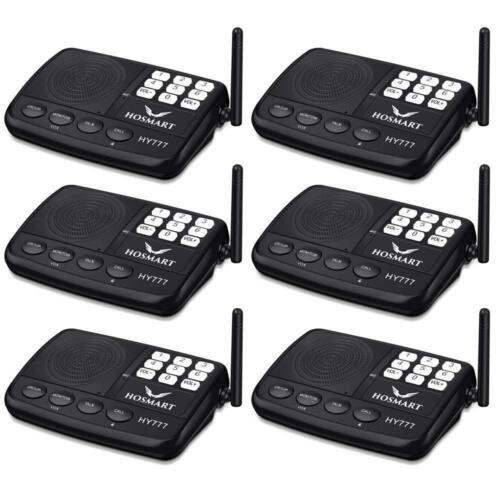 Wireless Intercom System Hosmart 1//2 Mile Long Range 7-Channel Security Home...