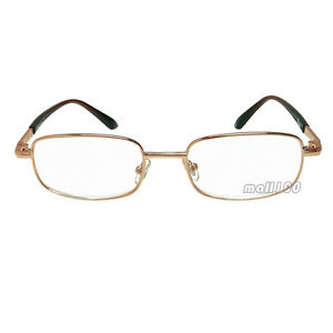 Reader Gold Metal Frame Portable Fashion Clear Reading ...