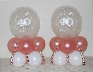 RUBY  WEDDING  ANNIVERSARY TABLE CENTERPIECE FOIL BALLOON DISPLAY