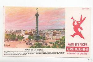 Buvard - Pain D'épices Gringoire. .place De La Bastille. (réf. 70/19) Dijeyhi9-07230724-772143487