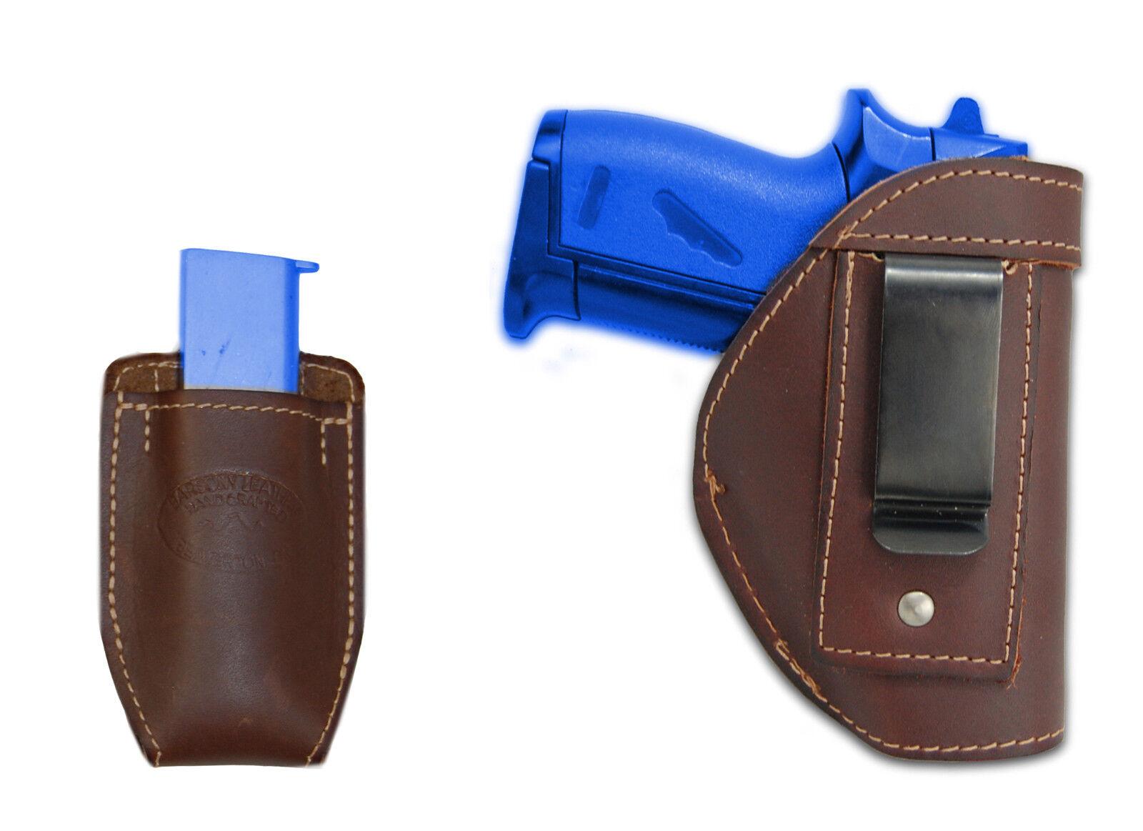 New Barsony Braun Leder IWB Holster + Mag Pouch Smith&Wesson Mini 22 25 380