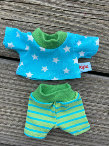 Hose für Monchichi 15-16 cm Bebichichi mini Teddy Bär Kleidung STERNE Shirt