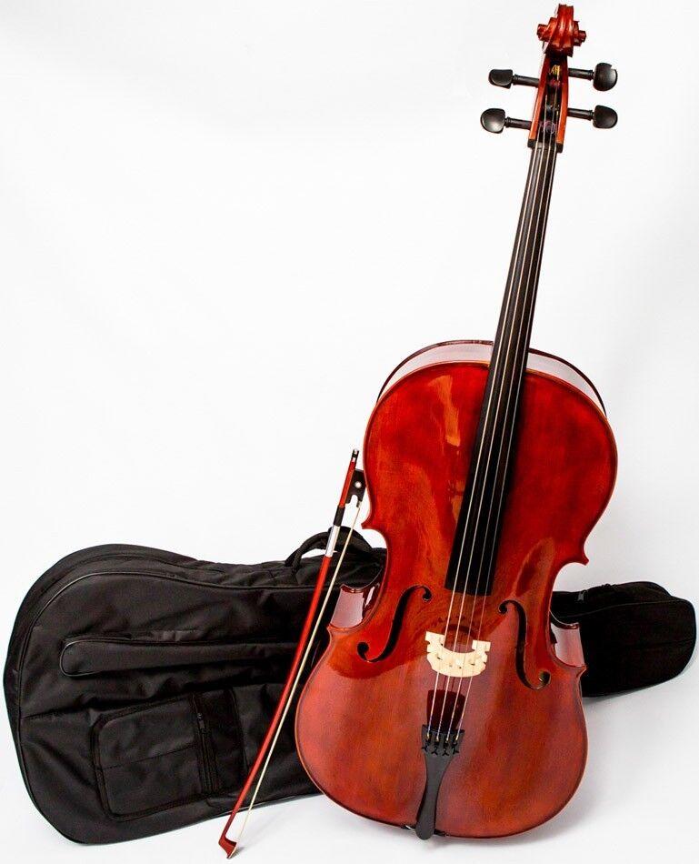 DE Cello 4 4 M-tunes No.200 hölzern - spielbereit + Profi
