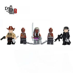 The-Walking-Dead-Minifigures-Rick-Michonne-amp-Glenn-made-with-LEGO-amp-custom-parts