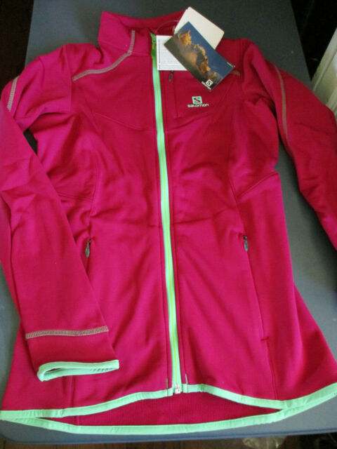 NWT $110 Salomon Women's MINIM MIDLAYER FZ FULL ZIP JACKET MYSTIC PURPLE SMALL