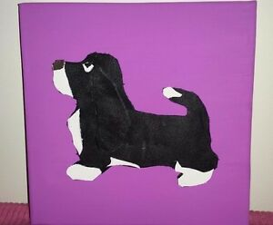 BASSET HOUND LEATHER ON CANVAS PICTURE 20cm x 20cm - <span itemprop='availableAtOrFrom'>Retford, United Kingdom</span> - BASSET HOUND LEATHER ON CANVAS PICTURE 20cm x 20cm - Retford, United Kingdom