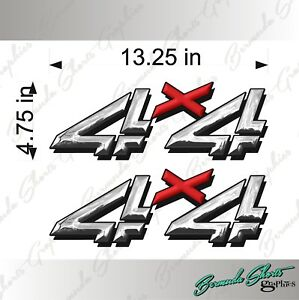 Details about 4X4 Truck Logos / PAIR / RX Chrome EFFECT / Vinyl Vehicle  Decals GMC Silverado