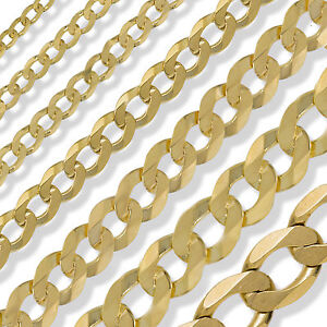 9CT-GOLD-CURB-CHAIN-16-18-20-22-24-ENGLISH-ROPE-POW-BELCHER-ROLO-LINK-FREE-BOX