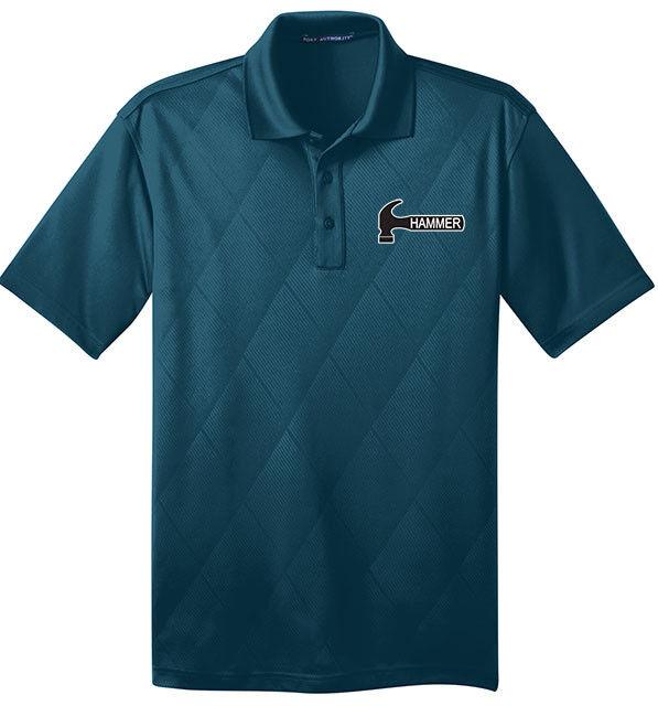 Hammer Men's Arson Performance Polo Bowling Shirt Dri-Fit Argyle Poseidon bluee