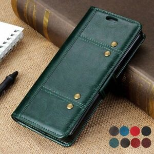 For HTC Desire 21 Pro 5G Vintage Flip Leather Wallet Case Matte Slim Full Cover
