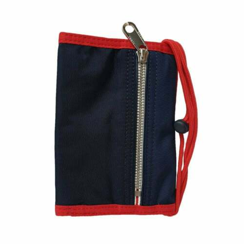 Tommy Hilfiger Casual Pouch Wallet Pouch with Removeable Cord Navy /& Red