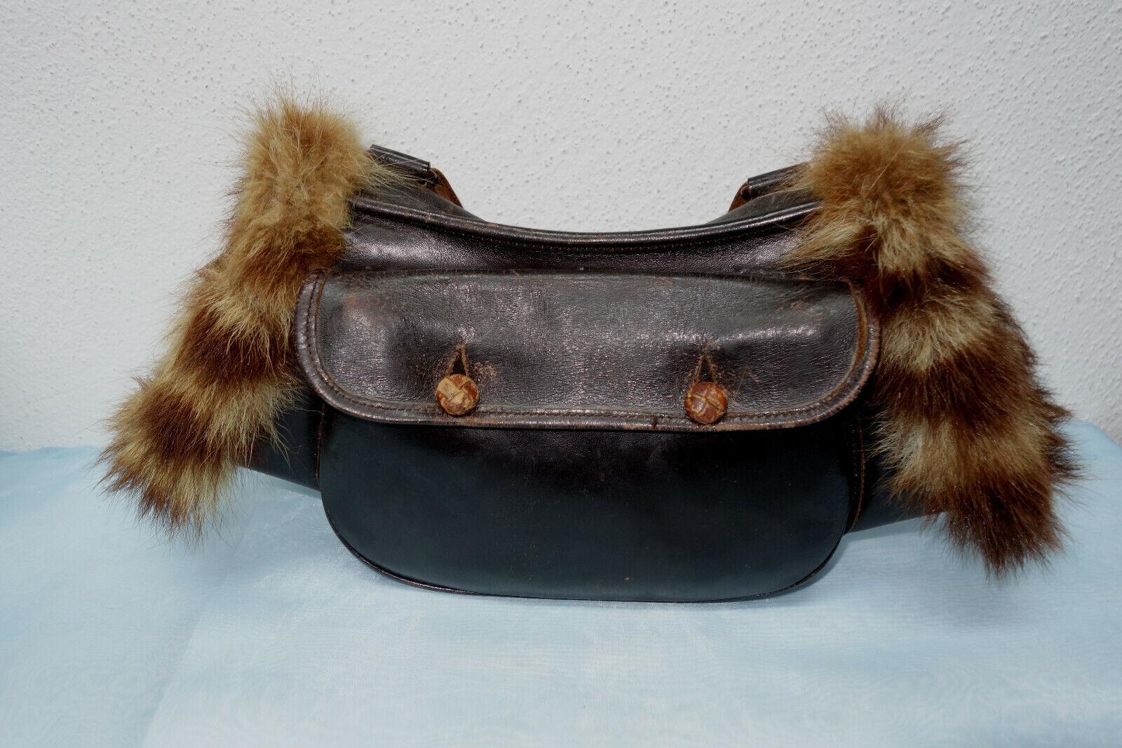 Muff  Jagdtasche mit Hühnergalgen, sehr weiches Leder,Hundepfeife
