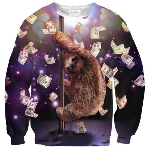 New Women Men Funny Sloth Jump Pipe Dance 3D Print Casual Hoodies Sweatshirt