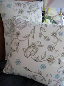Cushion-Cover-Insert-White-Embroidered-Floral-Decorate-Sofa-Bolster-Bed-Throw