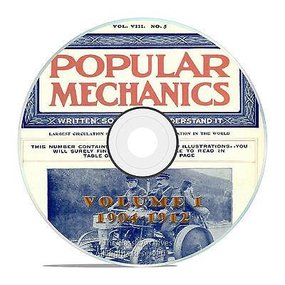 Vintage Popular Mechanics Magazine, Volume 1 DVD, 1904-1912, 76 issues, V11