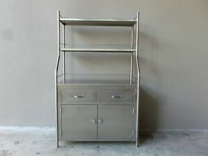 Image Is Loading VINTAGE SHAMPAINE CO STAINLESS STEEL SURGICAL CABINET GOOD