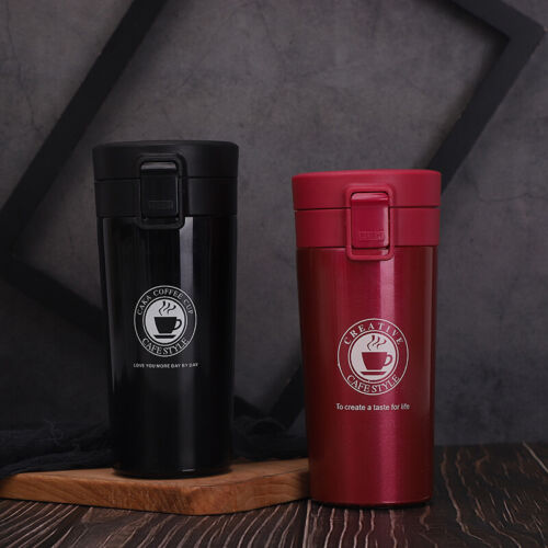 Leakproof Travel Coffee Mug Cup Thermal Flask Vacuum Insulated Stainless Steel