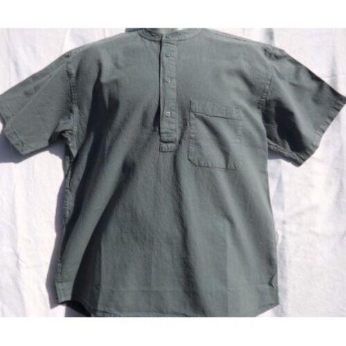 Grandad shirt Short sleeved Original half button 100/% cotton from Kaboo Trading