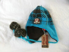BNWT PAJAR CANADA LADIES SKI/ SNOW /WINTER WOOL MIX LINED HAT TURQUOISE 1 SIZE