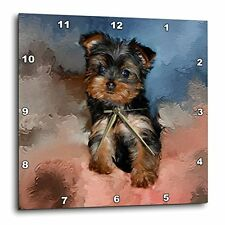 3dRose dpp_3868_3 Toy Yorkie Puppy Wall Clock, 15 by 15-Inch, New, Free Shipping