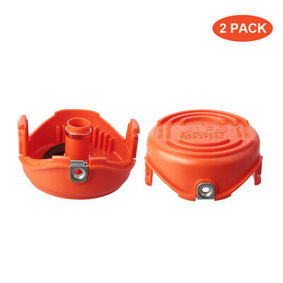 2 Pack Faracent THTEN Trimmer Spools Cap Covers Compatible with Black Decker SF-080 GH3000 LST540 Weed Eater with 90583594 Cap Covers Parts Auto-Feed Single Line