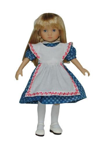 """Boneka abito con grembiule per bambole 24cm//Alice Dress for 24//10/"""" Dolls"""