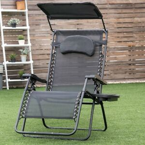 Magnificent Details About Garden Folding Recliner Lounge Chair W Shade Canopy Cup Holder Furniture Home Inzonedesignstudio Interior Chair Design Inzonedesignstudiocom
