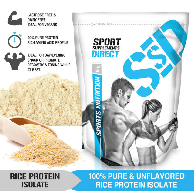 1kg 100% Rice Protein Isolate Powder Unflavoured 1 X 1kg Pure Rice Protein