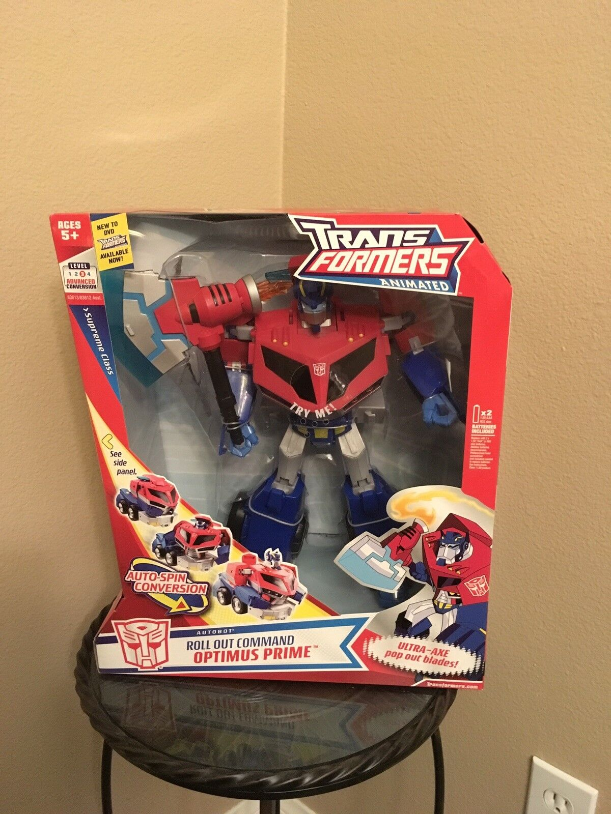 Transformers Animated Clase Autobot implementar supremo comando Optimus Prime Nuevo En Caja