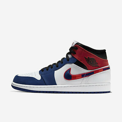 Nike Air Jordan 1 Mid SE [852542-146] Men Casual Shoes Multicolored Swoosh White