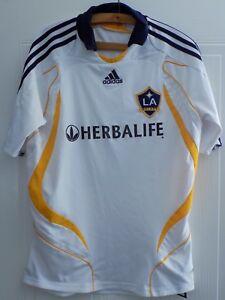 55e68aa6a Adidas LA GALAXY BECKHAM NO.23 Football Soccer Shirt RARE Maglia ...